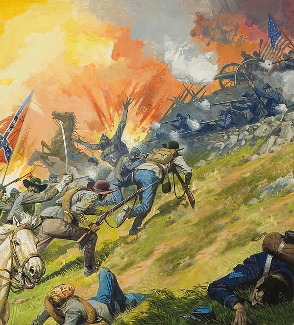 The Battle Of Gettysburg Print by Severino Baraldi