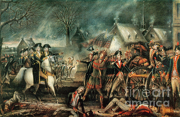 The Battle Of Trenton 1776 Print by Photo Researchers