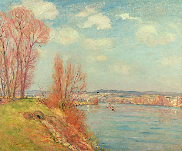 The Bay And The River Print by Jean Baptiste Armand Guillaumin