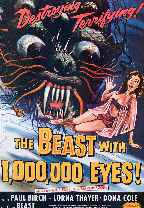 The Beast With A Million Eyes, 1955 Print by Everett