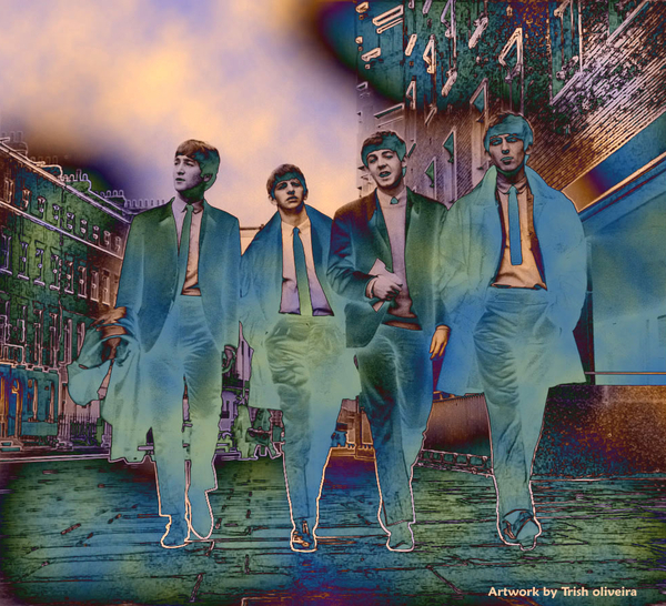 The Beatles Forever Print by Trish Oliveira