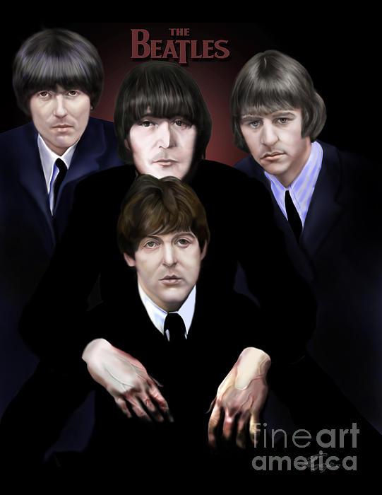 The Beatles Print by Reggie Duffie
