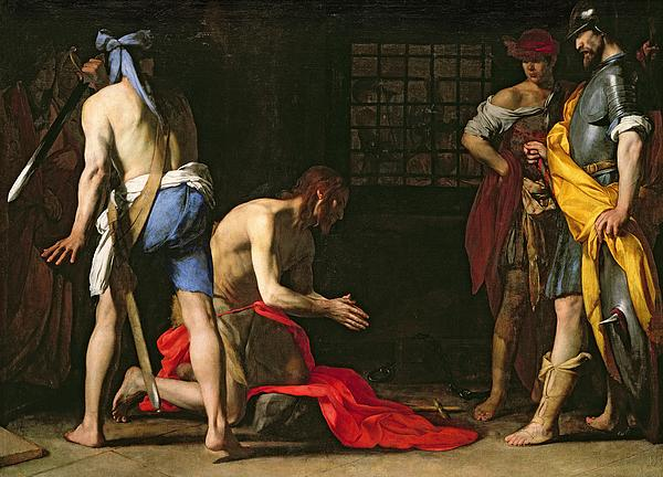 The Beheading Of John The Baptist Print by Massimo Stanzione