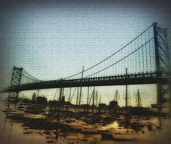 The Ben Franklin Bridge Print by Bill Cannon