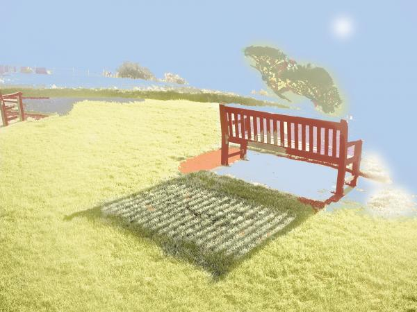 The Bench At The Edge Of The World Print by Dan McCarthy