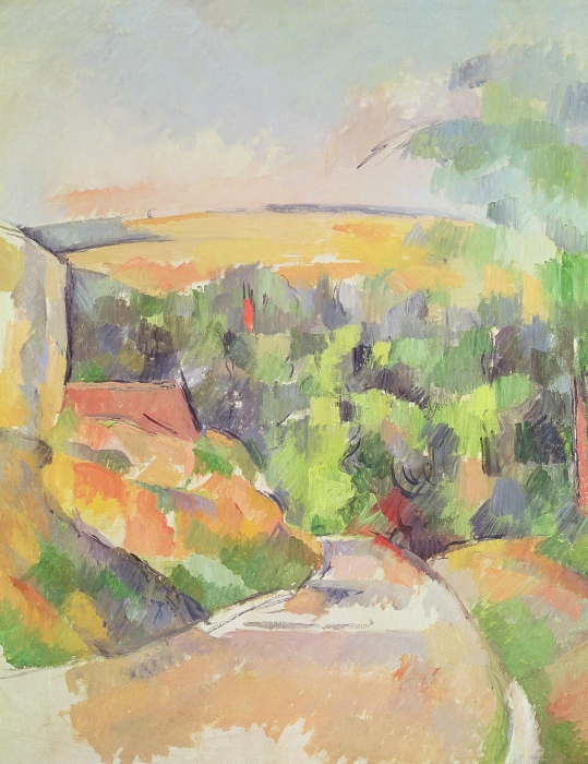 The Bend In The Road Print by Paul Cezanne