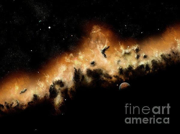 The Blast Wave Of A Nova Pulls Away Print by Brian Christensen