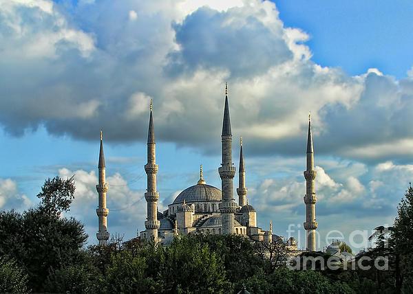 The Blue Mosque Sultanahmet Camii Print by Alexandra Jordankova