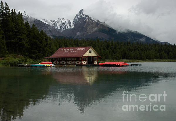 Vivian Christopher - The Boathouse on Maligne Lake Alberta Canada