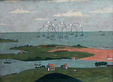 The Bombardment Of Fort Mchenry Painting 