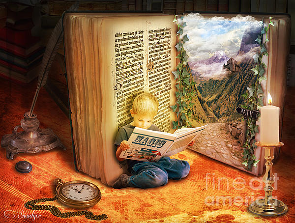 The Book Of Magic Print by Eugene James