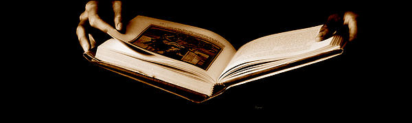 The Book  Print by Steven  Digman