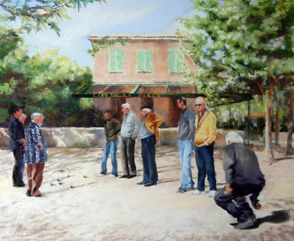 The Boules Players Painting  - The Boules Players Fine Art Print