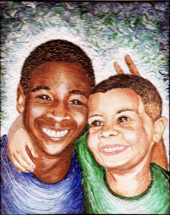 The Boys  Print by Keenya  Woods