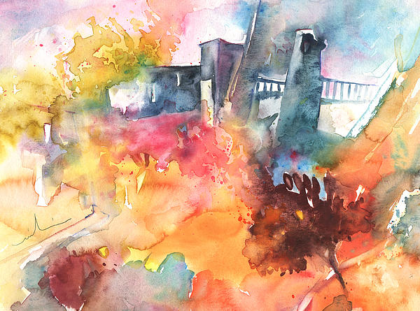 The Bridge On Planet Goodaboom Print by Miki De Goodaboom