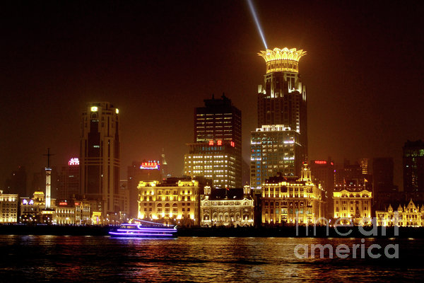The Bund - Shanghai's Magnificent Historic Waterfront Print by Christine Till