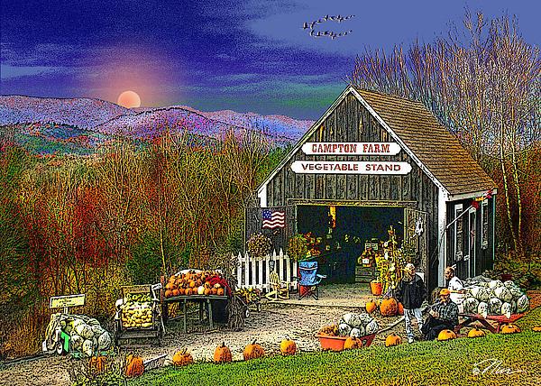 The Campton Farm Print by Nancy Griswold