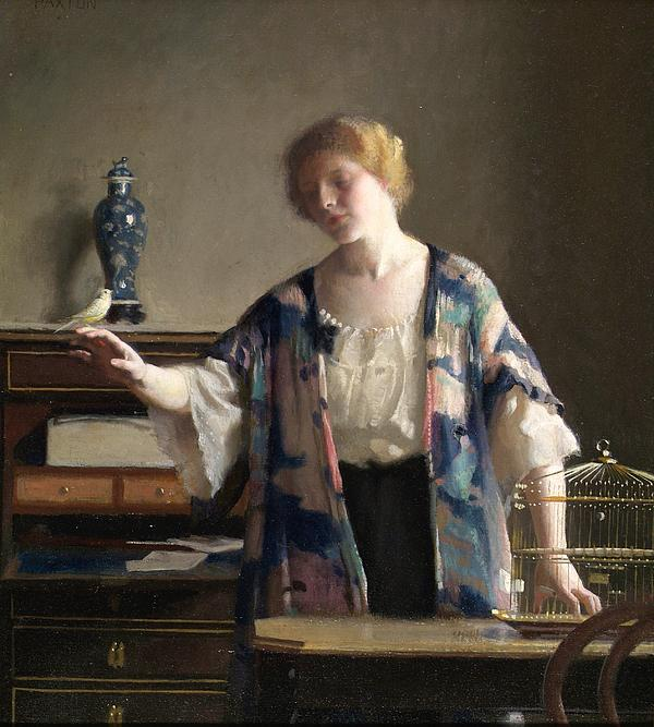 The Canary Print by William McGregor Paxton