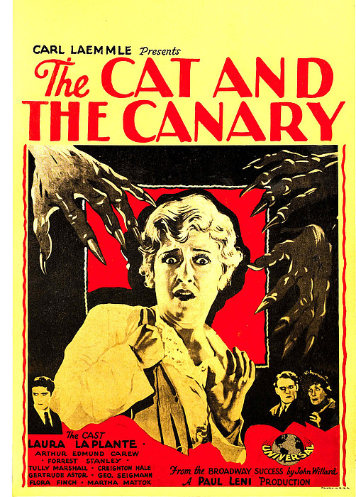 The Cat And The Canary, Center Laura La Print by Everett