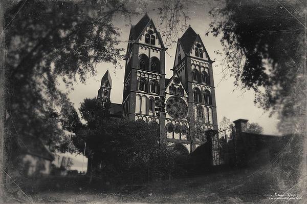 The Catholic Cathedral Of Limburg Print by Natalia Kempin