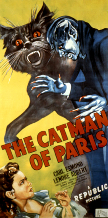 The Catman Of Paris, 1946 Print by Everett