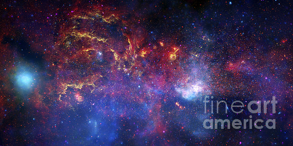The Central Region Of The Milky Way Print by Stocktrek Images