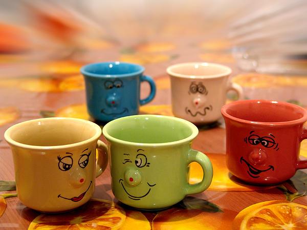 The Cheerful Cups Print by Alessandro Della Pietra