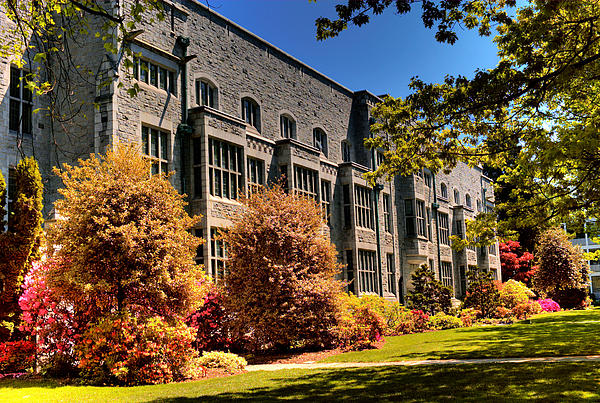 The Chem Building At Ubc Print by Lawrence Christopher
