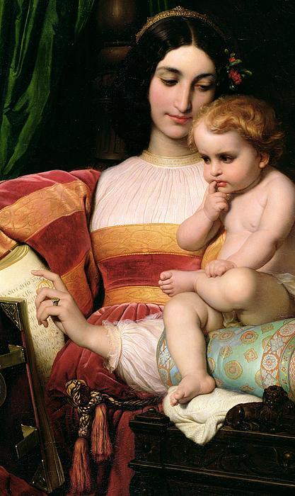 The Childhood Of Pico Della Mirandola Print by Hippolyte Delaroche