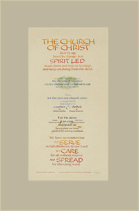 The Church Of Christ In Every Age II Print by Judy Dodds
