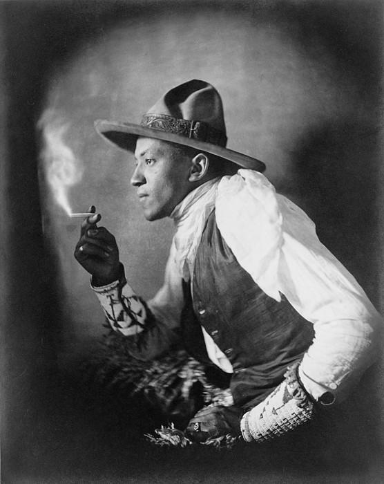 The Cigarette, American Dakota Indian Print by Everett