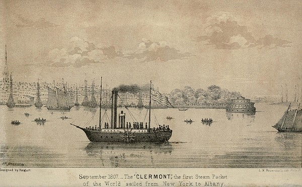 The Clermont Robert Fultons First Print by Everett