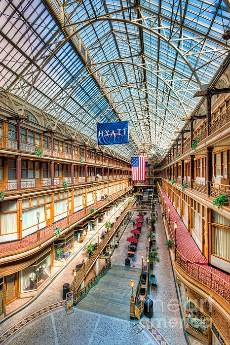 The Cleveland Arcade I Print by Clarence Holmes