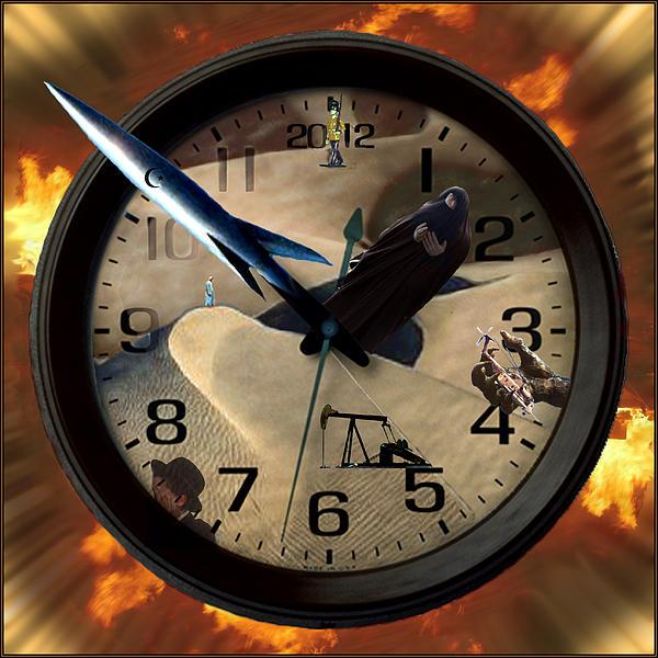 The Clock Is Ticking Print by E  Kraizberg