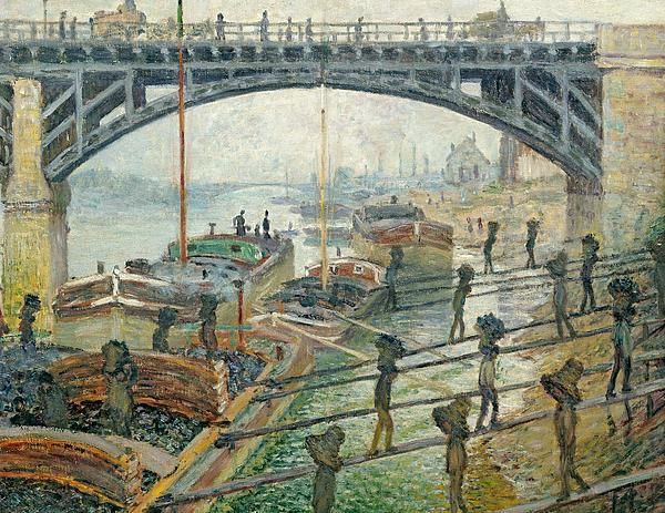 The Coal Workers Print by Claude Monet