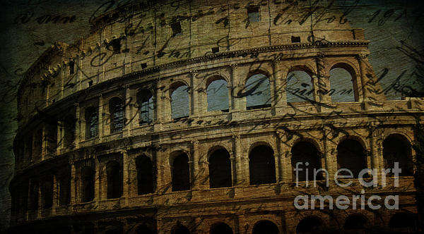 The Colosseum Of Rome Print by Lee Dos Santos