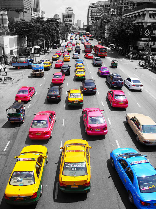 The Colours Of Bangkok Print by Kelly Jones