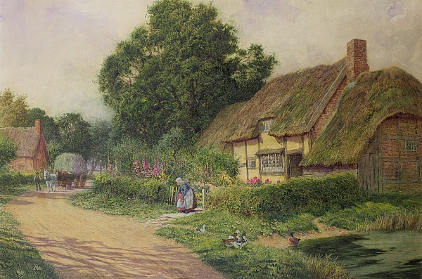 The Coming Of The Haycart  Print by Arthur Claude Strachan