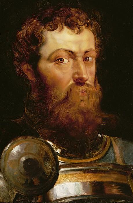 The Commander's Head  Print by Peter Paul Rubens