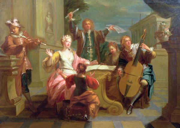 The Concert  Print by Etienne Jeaurat