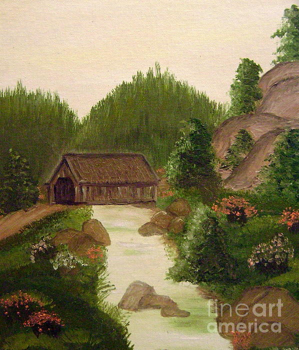 The Covered Bridge Print by Kim Walker