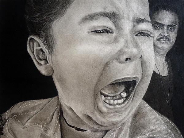 The Crying Child Print by Mickey Raina