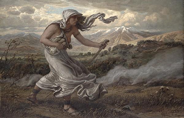 The Cumaean Sibyl Print by Elihu  Vedder