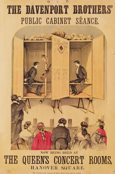 The Davenport Brothers Print by English School