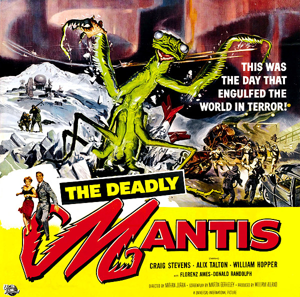 The Deadly Mantis, 6-sheet Poster Art Print by Everett