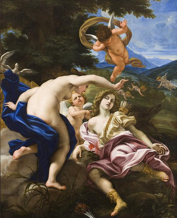 The Death Of Adonis Print by Il Baciccio