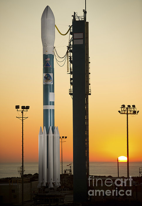 The Delta II Rocket On Its Launch Pad Print by Stocktrek Images