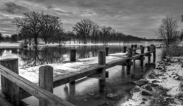 The Dock Print by Everet Regal