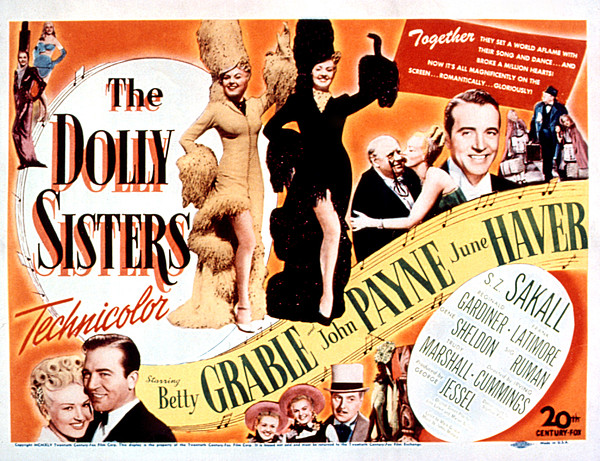 The Dolly Sisters, Betty Grable, June Print by Everett