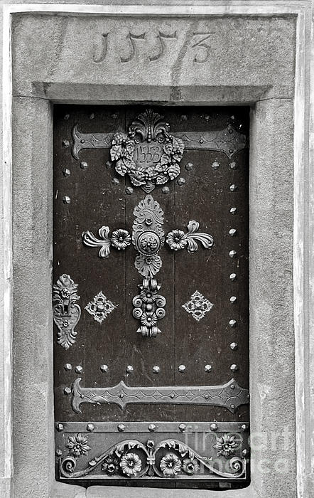 The Door - Ceske Budejovice Print by Christine Till